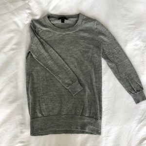 J. Crew Sweater - Gray 3/4 Sleeve, Petite Small